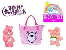 Iron Fist Care Bears Stare Plush Pink Rainbow Tote Bag
