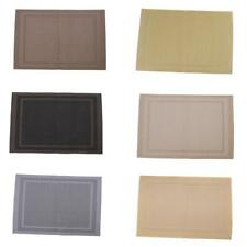 PVC Dining Room Weave Woven Placemats Table Heat Insulation Place Mats JS