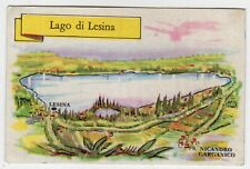 figurina SERIE ITALIA LAGHI PRINCIPALI LA FOLGORE N. 143 LAGO DI LESINA REC