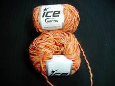Ice Yarn red/orange/tan color Wool Mix