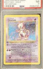 Mewtwo Holo 1st Edition Shadowless Base Set PSA 7, #10/102