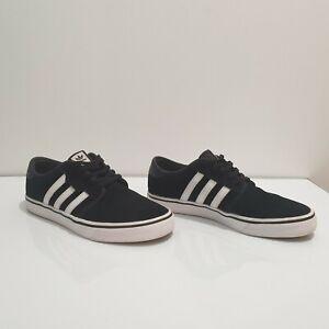 Adidas Seeley Black/White Gum Unisex Skateboard Shoes Size UK 6.5/US 7