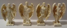 SET OF THE 4 ARCHANGELS IN IVORY & GOLD RESIN 93mm Wicca Witch Pagan Goth Reiki
