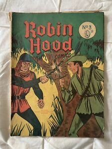The adventures of ROBIN HOOD #3 Comic Printed In Australia
