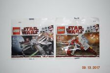 LEGO Star Wars 30050 30051 Mini X-Wing, Mini Republic Attack Shuttle, HTF, NEW