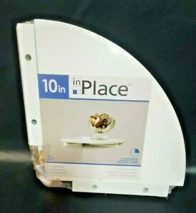 InPlace 10-inch White Corner Shelf Kit White Great for placing decorations!
