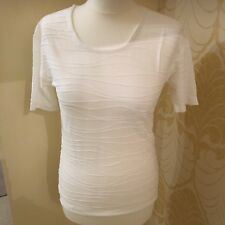 New Phase Eight Ivory Scoop Neck T shirt Top 8 10 12 14 Summer