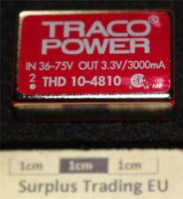 TRACO THD 10-4810 ISOLATO 10w CONVERTITORE CC-CC 3.3vdc 3a