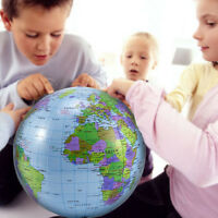 5-10x Inflatable World Globe Beach Ball Inflate Earth Map Teacher Aid Geography