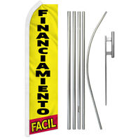 Credito Facil Full Curve Swooper Windless Advertising Flag Fianciamiento