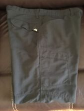 North Face Men's Nylon Hiking Pant w/ Zip Cargo Pockets Gray size 36 X 40 Short