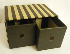 2 x CD & DVD Drawer Box Accessories Storage Organizer 16x31x22cm
