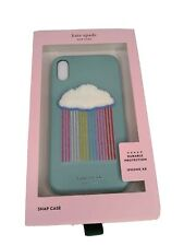 Kate Spade Rainbow Cloud Patch Phone Case for iPhone XR Snap On Case
