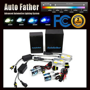 Autofather 55w HID Xenon Conversion Kit H7 All Color Xenon Headlight Light Bulbs
