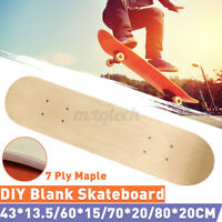 24'' Blank Skateboard Decks 7-Layer Maple Double Concave Natural Skate Board