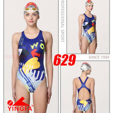 2018 NEW NWT YINGFA 629 COMPETITION TRAINING RACING SWIMSUIT L US MISS 6 SIZE 30