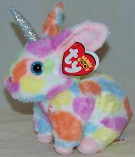 2019 Ty Beanie Boos BEGONIA tie dyed Bunny Rabbit w horn 7