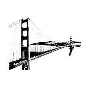 Golden Gate Bridge -  San Francisco Vinyl Wall Accent Decal