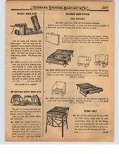 1927 PAPER AD Upton's Boy Scout Mess Kit Pocket Kook Kamp Coleman Camp Stove