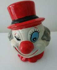 Vintage Clown Face Moneybox Piggybank - Ceramic