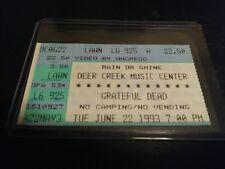 Grateful Dead Ticket Stub, Deer Creek, 06/22/1993
