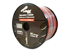 250' FT 16 GA Gauge Red Black Stranded Speaker Wire Copper Clad Aluminum CCA
