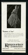1925 Dora de Phillippe photo Kranich & Bach piano vintage print ad