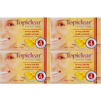 4 Pack Topiclear Lemon Soap Skin Face Body Cleanser Jabon Limon Piel Cara Cuerpo
