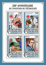 Central African Rep 2016 MNH Stethoscope 200th Anniv 4v M/S Medical Stamps