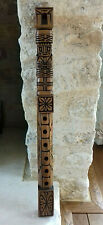 More details for vintage rustic hand made wooden flute peru display or use
