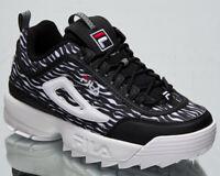 Fila Disruptor Animal Women's Zebra Black Casual Chunky Lifestyle Sneakers Shoes