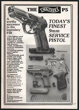 1985 WALTHER P5 9mm Pistol AD UK Advertising