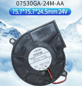 NMB 07530GA-24M-AA 7530 24V 0.2A 7Cm High Air Volume Turbo Blower Fan