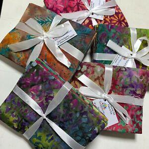 Print Batik Fat Quarter Bundles 100% Cotton Quilting Craft 5 Pack 45x55cm Fabric
