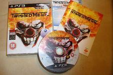 PS3 Playstation 3 Jeu TWISTED METAL + BOITE instructions complet Pal Gwo Disque Très bon état