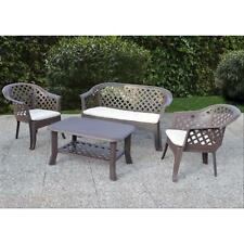 "SALOTTO RESINA MARRONE ""IBISCO-VERANDA"" SET 4PZ"