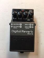 Boss Roland RV-5 Stereo Digital Reverb 6-Modes Guitar Effect Pedal RV5