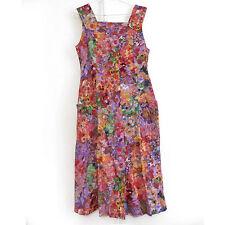 Robe printemps été 100 % coton Fleurs multicolore France TAILLE 38