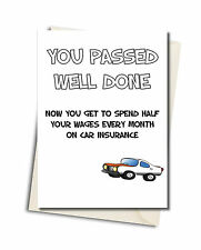 Personalised Rude Funny Congratulations Passed Driving Test Card INSURANCE