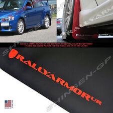 Rally Armor UR Black Mud Flaps w/ Red Logo for 2008-2015 Evolution EVO X