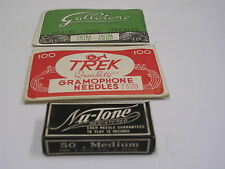 GRAMOPHONE NEEDLES nice set with 3 paper bags with total 250 new needles