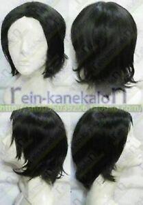 Potter Severus Snape Professor Short Black Cosplay Party Wig Hair