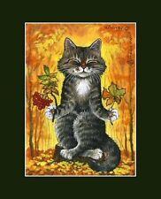 CAT ACEO autunno meditazione stampa da i garmashova