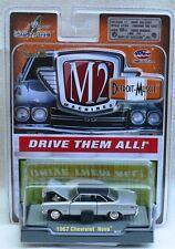 1967 Chevrolet Nova Silver 1:64 Scale M2 Diecast Detroit Muscle