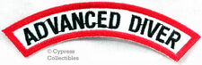 ADVANCED DIVER CHEVRON SCUBA DIVING iron-on DIVE CERTIFICATION PATCH embroidered