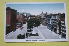 Vintage Postcard ~ Victoria Square Montreal Quebec Canada 1925