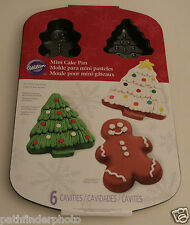 WILTON BAKING MOLD PAN GINGERBREAD CHRISTMAS TREE MINI-CAKE NON-STICK 2105-1515