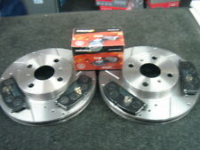 FOR TOYOTA MR2 MK1 AW11 DRILLED GROOVED BRAKE DISCS & PADS FRONT