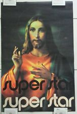 Vintage 1971 Jesus Christ Super Star Gemini Rising Black Light Poster #171 /Rare