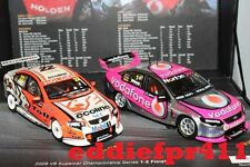 1/43 2009 FORD FG FALCON HOLDEN VE COMMODORE WHINCUP DAVISON CHAMP TWIN SET